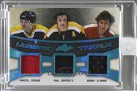 Marcel Dionne, Phil Esposito, Bobby Clarke [Uncirculated] #/9