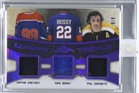 Wayne Gretzky, Mike Bossy, Phil Esposito /5 [ENCASED]