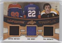 Wayne Gretzky, Mike Bossy, Phil Esposito #/30