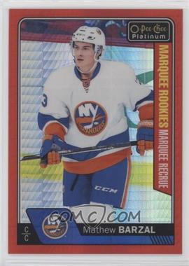 2016-17 O-Pee-Chee Platinum - [Base] - Red Prism #188 - Mathew Barzal /199