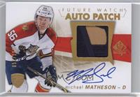 Future Watch Autographs - Michael Matheson #/100
