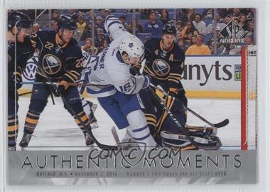 2016-17 SP Authentic - [Base] #113 - Authentic Moments - Mitch Marner