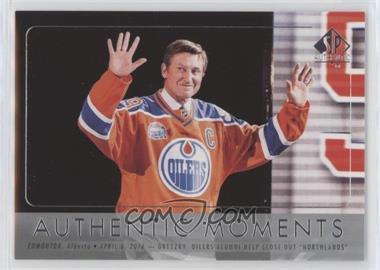 2016-17 SP Authentic - [Base] #115 - Authentic Moments - Wayne Gretzky