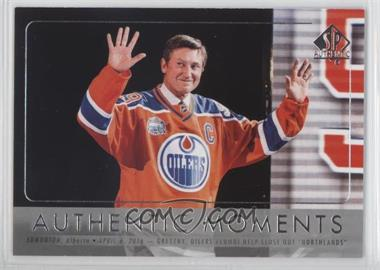 2016-17 SP Authentic - [Base] #115 - Authentic Moments - Wayne Gretzky
