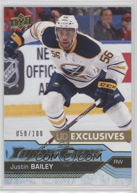 2016-17 Upper Deck - [Base] - Exclusives #246 - Young Guns - Justin Bailey /100