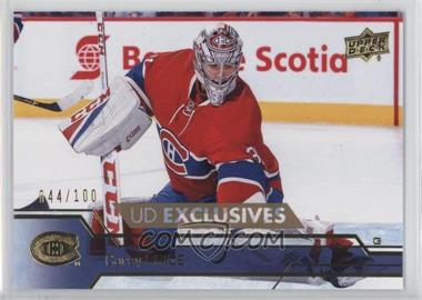 2016-17 Upper Deck - [Base] - Exclusives #349 - Carey Price /100