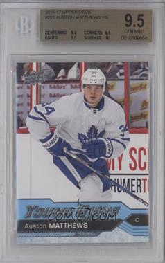 2016-17 Upper Deck - [Base] #201 - Young Guns - Auston Matthews [BGS 9.5 GEM MINT]