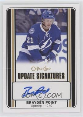 2016-17 Upper Deck - O-Pee-Chee Update Signatures #US-BP - Brayden Point