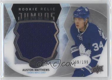 2016-17 Upper Deck Ice - Rookie Relic Jumbos #RRJ-AM - Auston Matthews /199