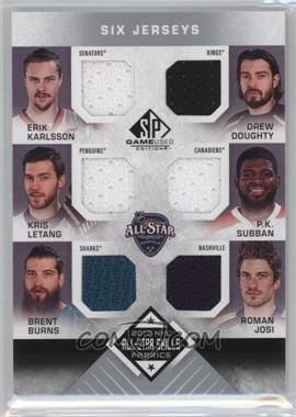 2016-17 Upper Deck SP Game Used - 2016 All-Star Skills Fabrics Sixes #AS6-DEF - Erik Karlsson, Drew Doughty, Kris Letang, P.K. Subban, Brent Burns, Roman Josi