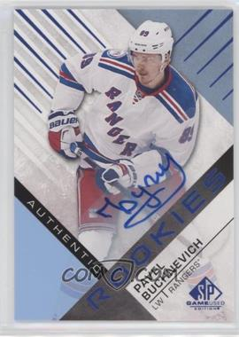 2016-17 Upper Deck SP Game Used - [Base] - Blue Auto [Autographed] #187 - Authentic Rookies - Pavel Buchnevich