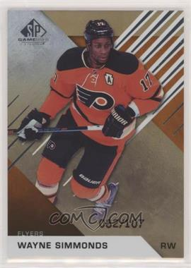 2016-17 Upper Deck SP Game Used - [Base] - Orange Rainbow Draft Year #85 - Wayne Simmonds /107