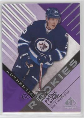 2016-17 Upper Deck SP Game Used - [Base] - Purple #185 - Authentic Rookies - Patrik Laine