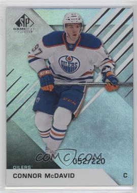2016-17 Upper Deck SP Game Used - [Base] - Rainbow Player Age #50 - Connor McDavid /220
