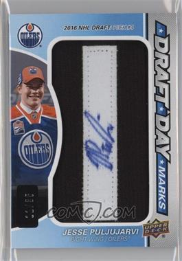 2016-17 Upper Deck SP Game Used - Draft Day Marks #DDM-JP - Rookies - Jesse Puljujarvi /35