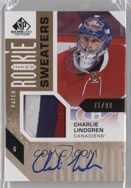 2016-17 Upper Deck SP Game Used - Inked Rookie Sweaters - Patch #RS-CL - Charlie Lindgren /99