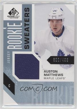 2016-17 Upper Deck SP Game Used - Rookie Sweaters #RS-AM - Auston Matthews /499
