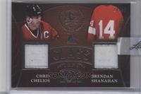 Chris Chelios, Brendan Shanahan /45 [ENCASED]