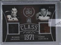 Busher Jackson, Terry Sawchuk [Uncirculated] #/10