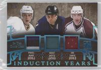 Pavel Bure, Adam Oates, Joe Sakic #/3