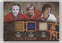 Tony Esposito, Guy Lafleur, Brad Park [Noted] #/12