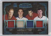 Bobby Hull, Frank Mahovlich, Gordie Howe, Stan Mikita #/2