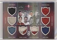 Stan Mikita, Bobby Hull, Gordie Howe, Norm Ullman, Alex Delvecchio, Dave Keon, …