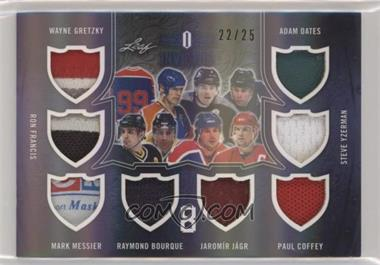2017-18 Leaf Invictus - 8 Relics #I8-14 - Wayne Gretzky, Ron Francis, Mark Messier, Ray Bourque, Jaromir Jagr, Paul Coffey, Adam Oates, Steve Yzerman /25