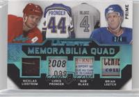 Nicklas Lidstrom, Chris Pronger, Rob Blake, Brian Leetch #/4