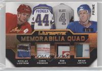 Nicklas Lidstrom, Chris Pronger, Rob Blake, Brian Leetch #/6