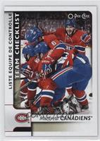 Team Checklist - Montreal Canadiens