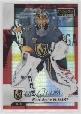 2017-18 O-Pee-Chee Platinum - [Base] - Red Prism #31 - Marc-Andre Fleury /199