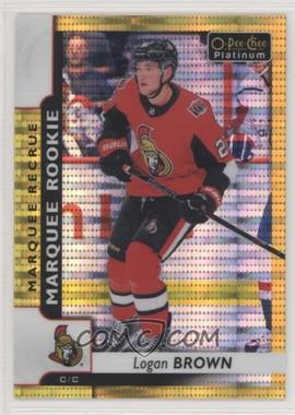 2017-18 O-Pee-Chee Platinum - [Base] - Seismic Gold #167 - Marquee Rookies - Logan Brown /50 [Noted]