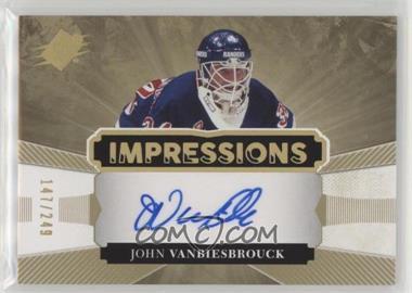 2017-18 SPx - Impressions Autographs #IA-JV - Tier 1 - John Vanbiesbrouck /249