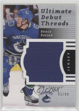 2017-18 Ultimate Collection - 2007-08 Retro Debut Threads #RDT-BB - Brock Boeser /99