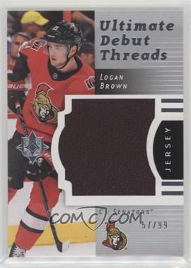 2017-18 Ultimate Collection - 2007-08 Retro Debut Threads #RDT-LB - Logan Brown /99