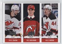 Miles Wood, Nico Hischier, Pavel Zacha