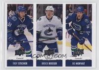 Troy Stecher, Brock Boeser, Bo Horvat