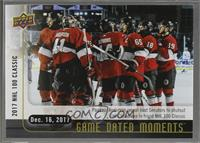 (Dec. 16, 2017) - Senators, Canadiens Face-Off at TD Place Stadium for the NHL …