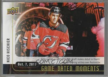 2017-18 Upper Deck Game Dated Moments - 1st Period #3 - (Oct. 7, 2017) - First Overall Pick Makes NHL Debut