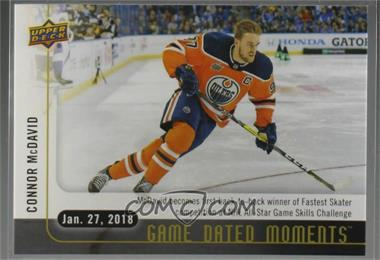 2017-18 Upper Deck Game Dated Moments - 2nd Period #42 - (Jan. 27, 2018) – McDavid Speeds Past the Competition in the NHL Fastest Skater Event for the 2nd Straight Year