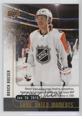 2017-18 Upper Deck Game Dated Moments - 2nd Period #44 - (Jan. 28, 2018) – Boeser Becomes First Rookie since Lemieux to be Named All-Star Game MVP