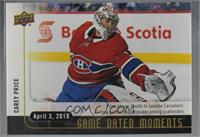 (April 3, 2018) - Carey Price Passes Plante for Most Games by a Montreal Canadi…