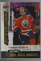 2017-18 Stat Leaders: Points - Connor McDavid - 108 Points