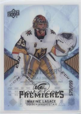 2017-18 Upper Deck Ice - [Base] #139 - Premieres - Maxime Lagace /999