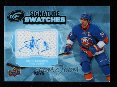 2017-18 Upper Deck Ice - Signature Swatches #SS-TA - John Tavares /75