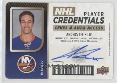2017-18 Upper Deck MVP - NHL Player Credentials - Level 4 Access Autographs [Autographed] #NHL-AL - Anders Lee
