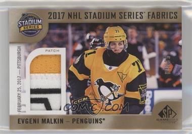 2017-18 Upper Deck SP Game Used - 2017 NHL Stadium Series Fabrics - Patch   PP-EM - Evgeni Malkin  35 67cc831d8