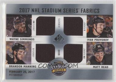 2017-18 Upper Deck SP Game Used - 2017 NHL Stadium Series Fabrics Quad   33185c361