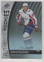 Authentic Rookies - Christian Djoos #/223